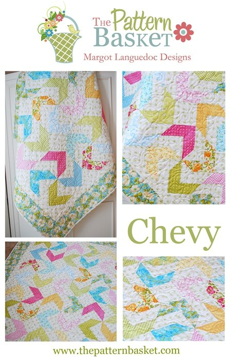 Chevy by The Pattern Basket #TPB 1311  Quilt Pattern Scrappy Friendly