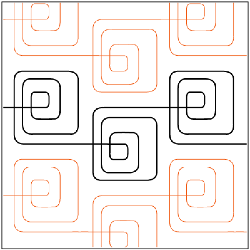 Pantograph Quilting Designs