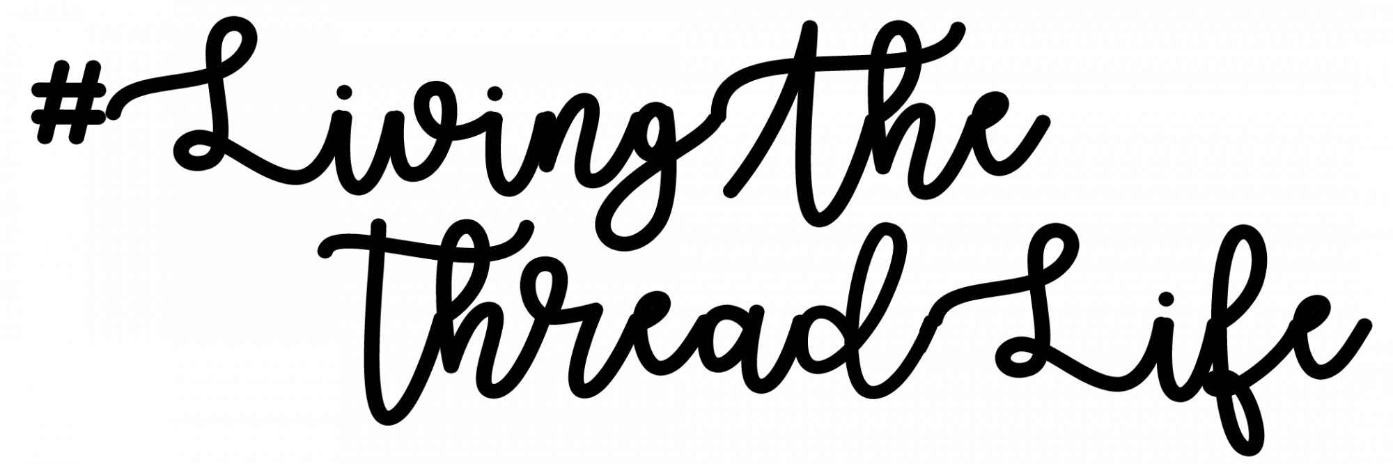 *EXCLUSIVE* #LivingTheThreadLife Static Cling Window Decal