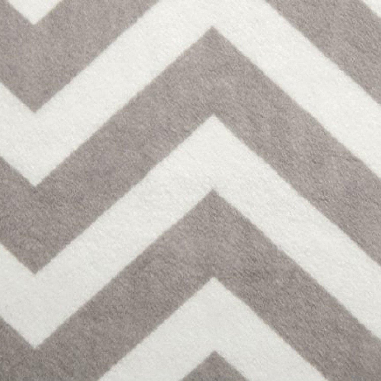 Chevron Silver/Snow 60 Print Cuddle Fabric from Shannon Fabrics