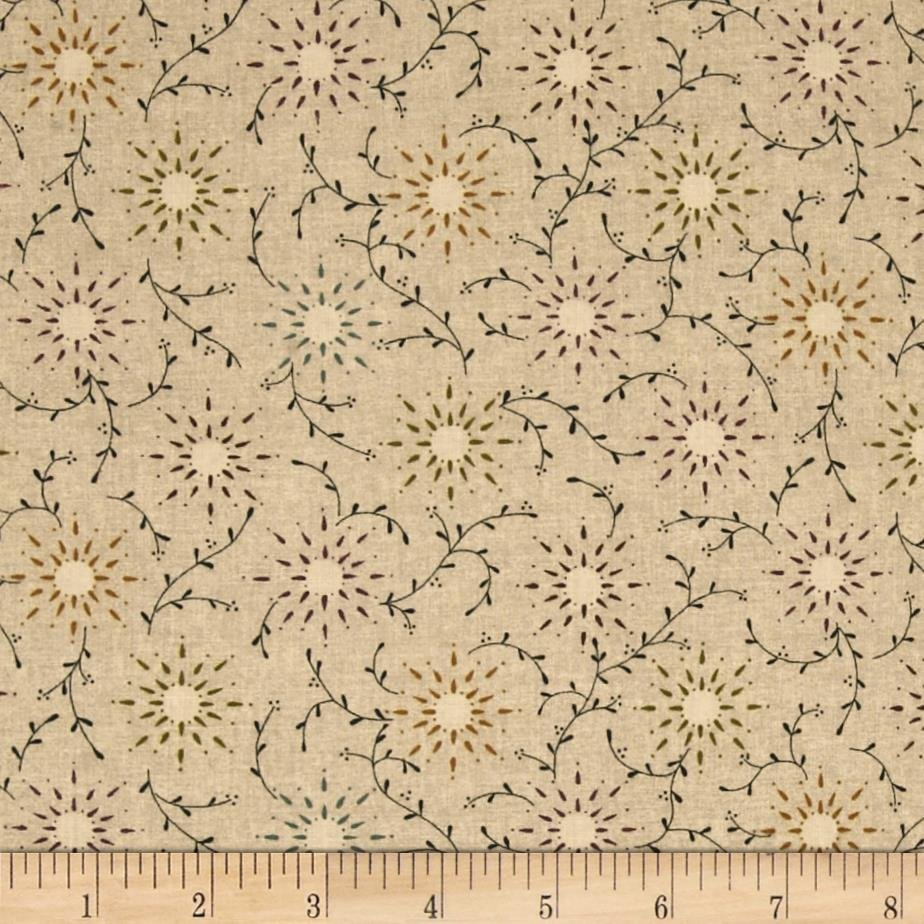 Prairie Vine Tan 108 Cotton Wide Back Quilt Fabric by Kim Diehl for Henry Glass Fabrics