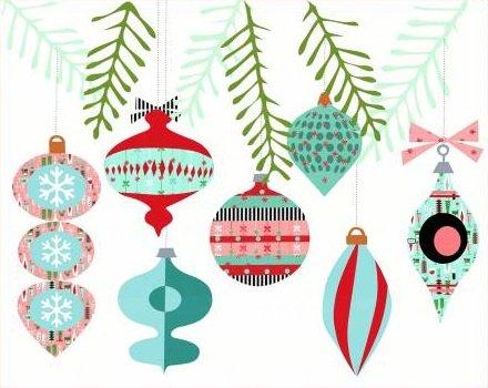 a very retro christmas applique set - Christmas Applique Designs