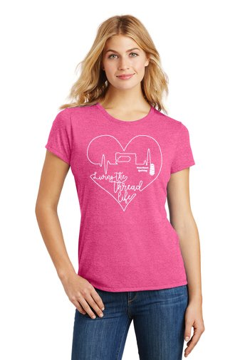 *EXCLUSIVE* Living The Thread Life - FUSCHIA T-Shirt from Heartbeat Quilting