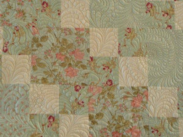 Sue Garman - Checkerboard Quilt - detail