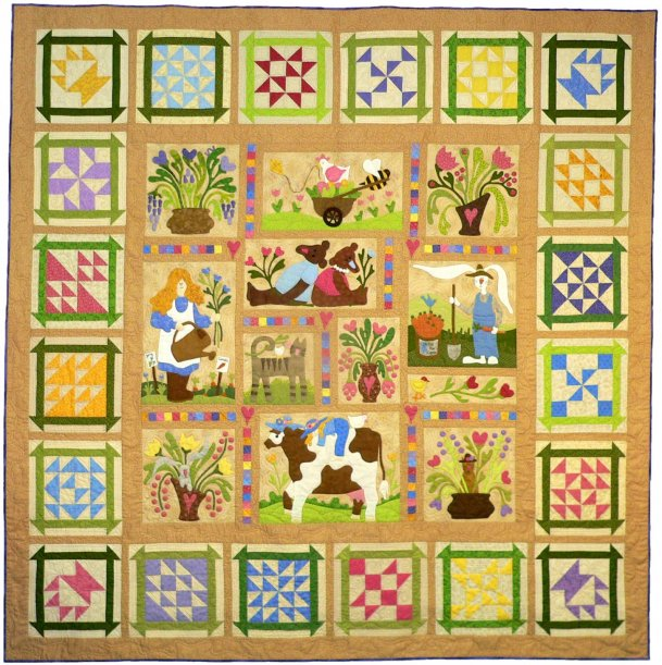 Sue Garman - Spring Joy with pieced block border