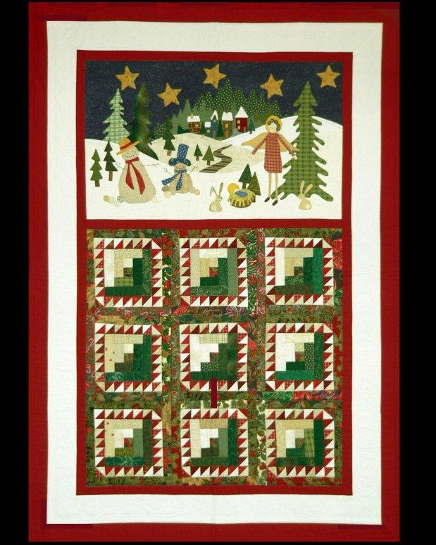 Sue Garman - Feathered Log Cabin Christmas