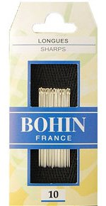 Needles:  Bohin Sharps - No. 10