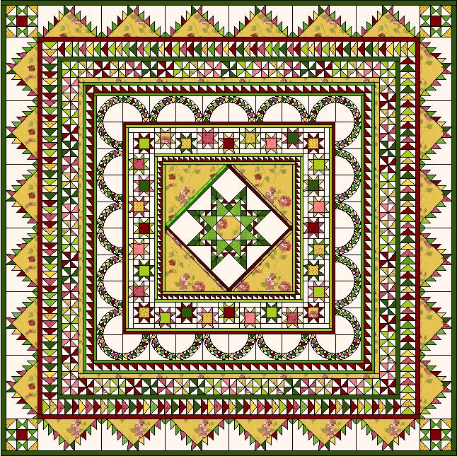 Halo Medallion Quilt - Complete Pattern Set