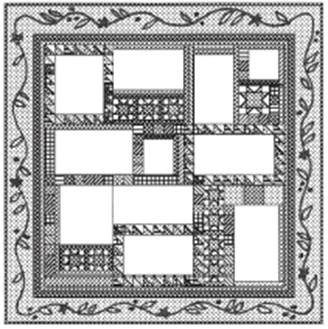 The Angel Quilt - Month Twelve: The Border Setting