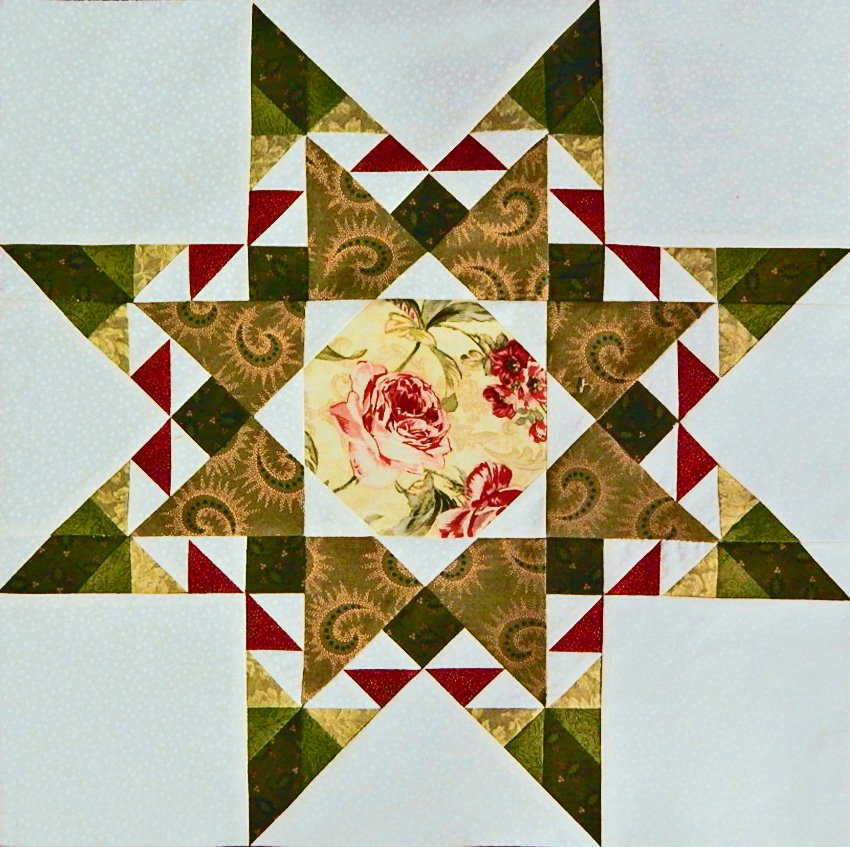 Halo Medallion Quilt - Introduction and Month 1: The Halo Star