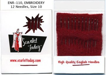 Needles:  Scarlet Today Embroidery - No. 10