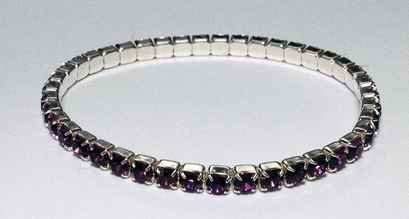 Amethyst Bracelet on Silver