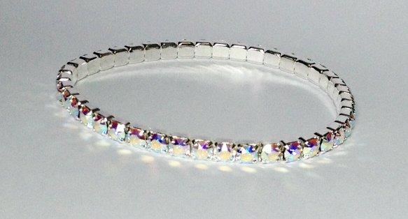 Aurora Borealis Bracelet on Silver