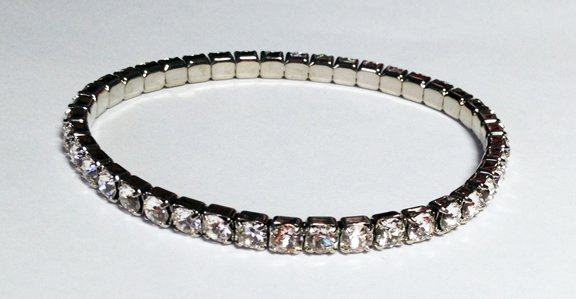 Crystal On Silver Bracelet