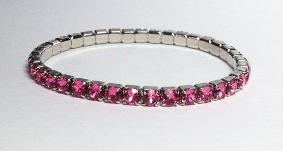 Rose on Silver Bracelet