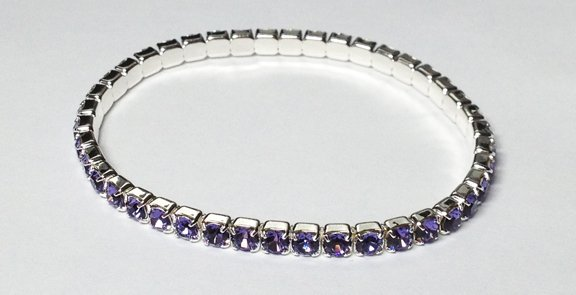 Tanzanite on a Silver Bracelet