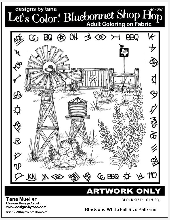 Let's Color! Bluebonnet Shop Hop