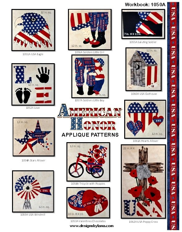 American Honor Applique Workbook 1050A