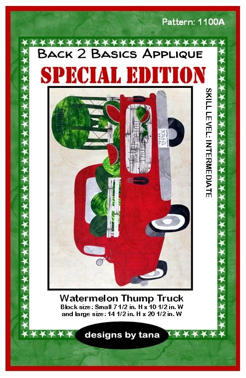 1100A Watermelon Thump Special Edition applique pattern