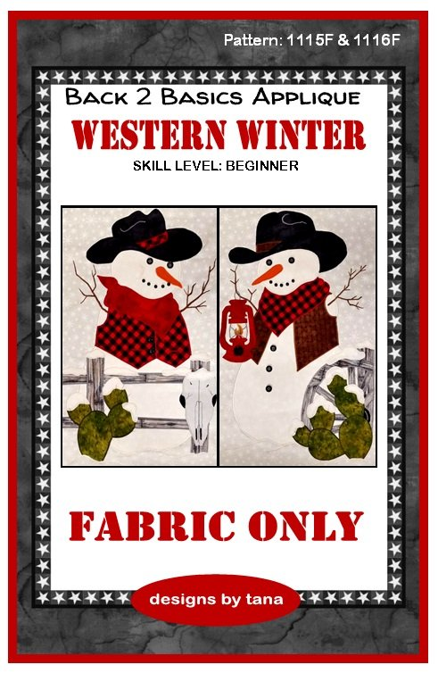 1115F & 1116F Snowman Fence Applique fabric kit
