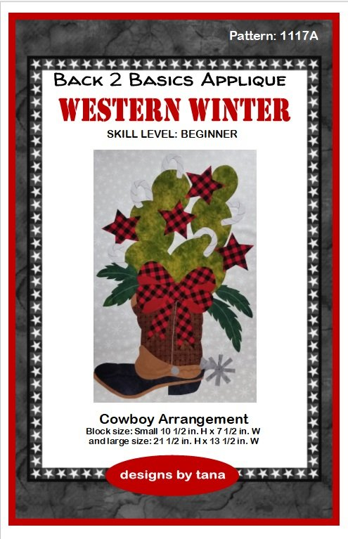 1117A Cowboy Arrangement applique pattern only