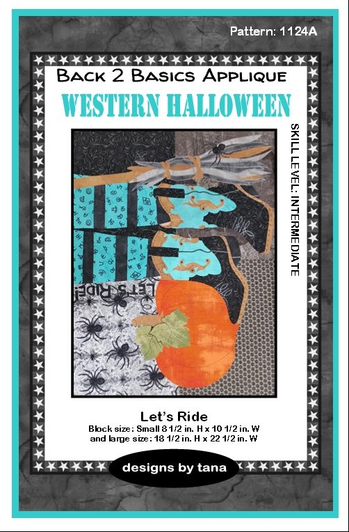 1124A Western Halloween~Let's Ride applique pattern only