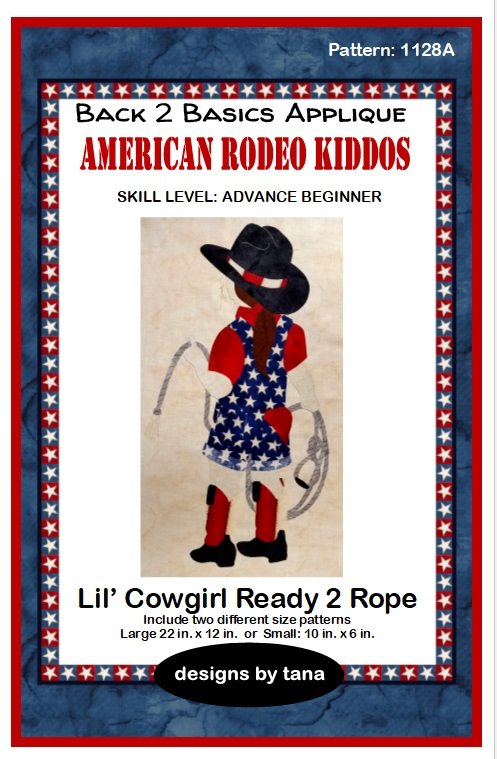 1128A Lil Cowgirl Ready 2 Rope  applique pattern only