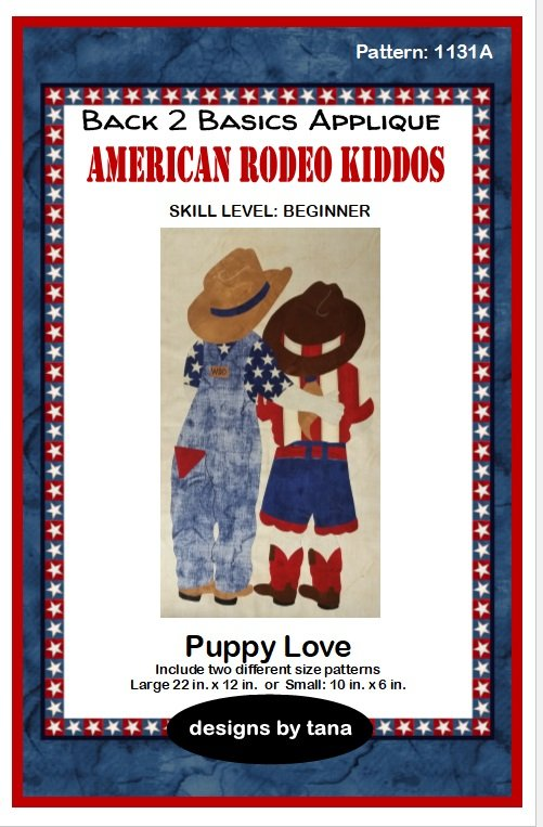 1131A Puppy Love applique pattern only