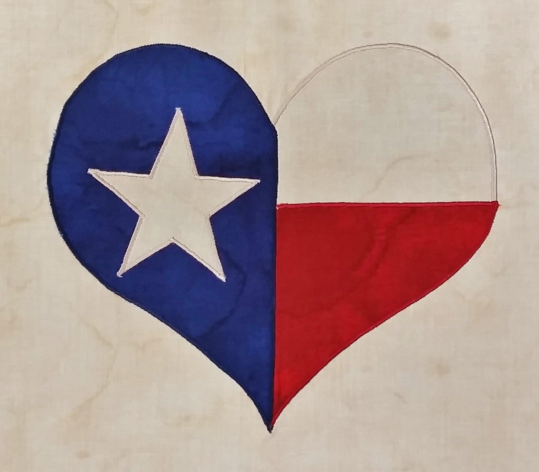 Texas Strong Embroidery Applique