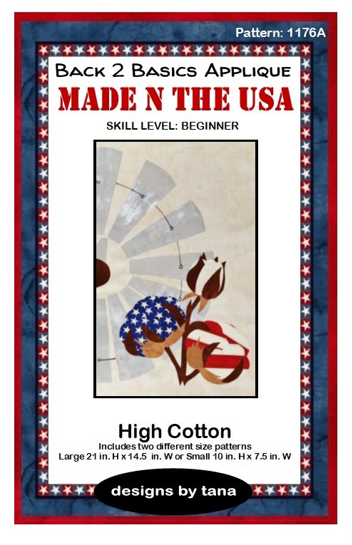 High Cotton applique pattern only