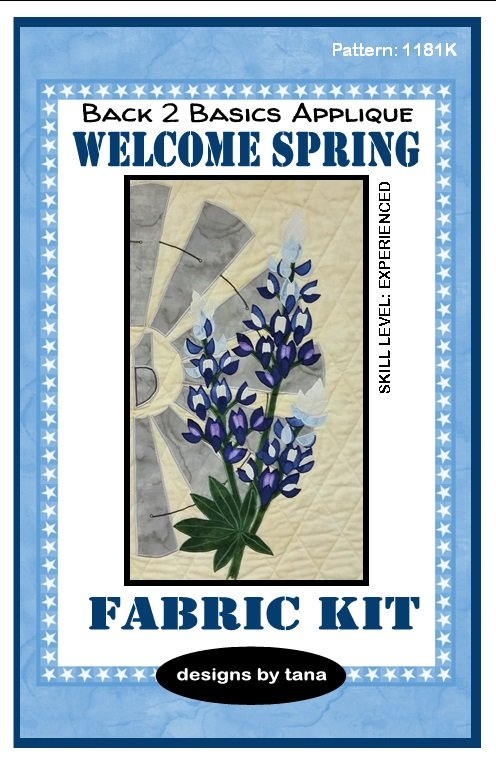 1181K Bluebonnets fabric only
