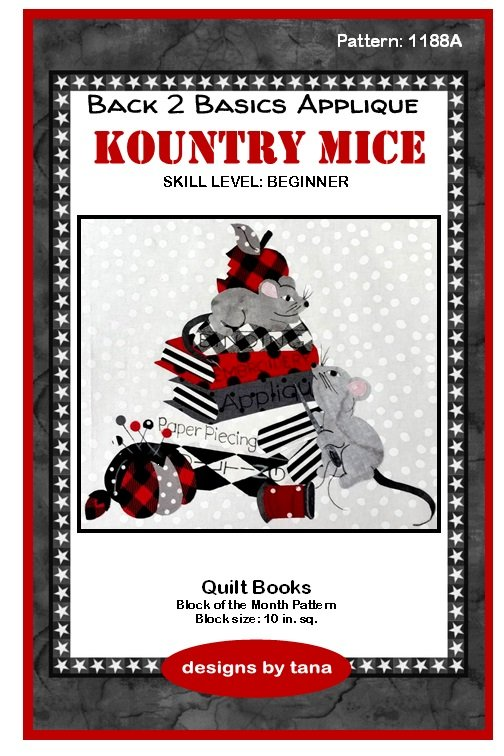 1188A Kountry Mice~Quilt Books applique pattern only