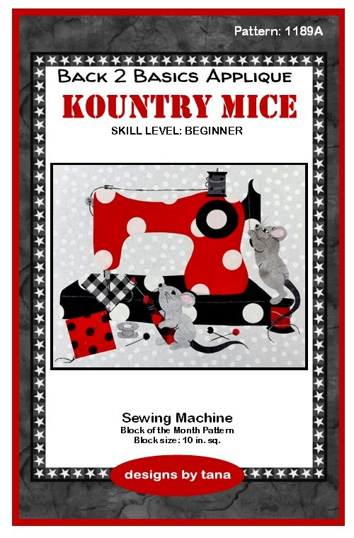 1189A Kountry Mice~Sewing Machine applique pattern only