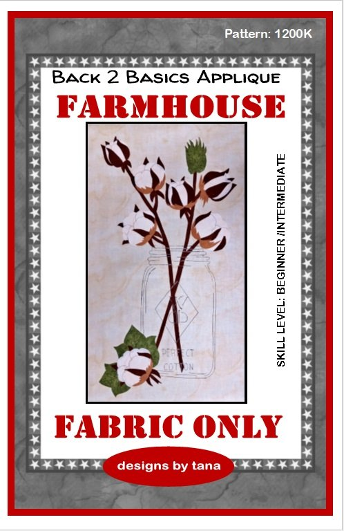 Farmhouse WDD Perfect Cotton fabric kit only
