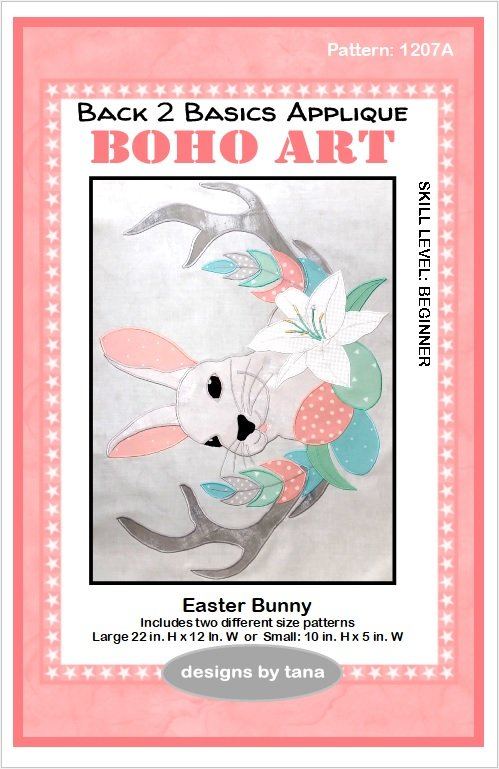 1207A  Easter Bunny applique pattern only