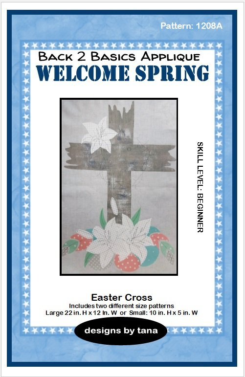 1208A  Easter Cross  applique pattern only