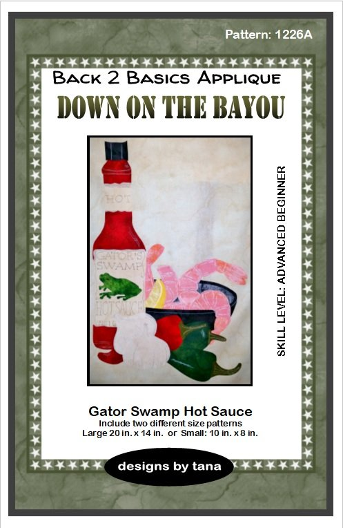 1226A Down on the Bayou~Gator Swamp Hot Sauce