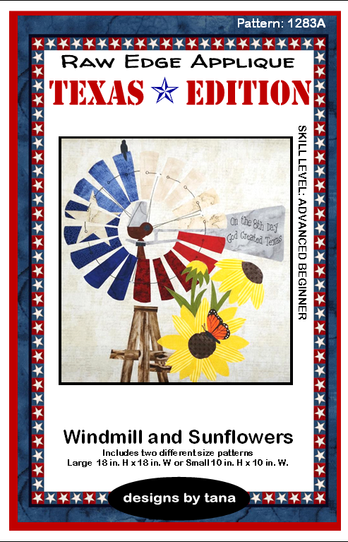 1283A Texas Edition Windmill and Sunflowers