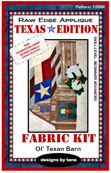 1288K Texas Edition ~ Ol' Texan Barn Fabric Kit