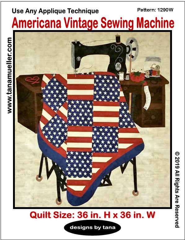 1290W Americana Vintage Sewing Machine