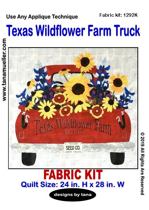 1292K Texas Wildflowers Farm Truck Fabric Kit