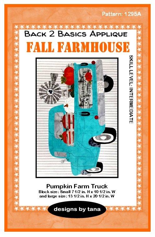1295A Fall Farmhouse~Pumpkin Farm Truck