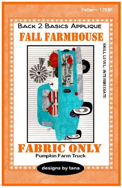 1295KB Fall Farmhouse~Pumpkin Truck Turquoise fabric kit only