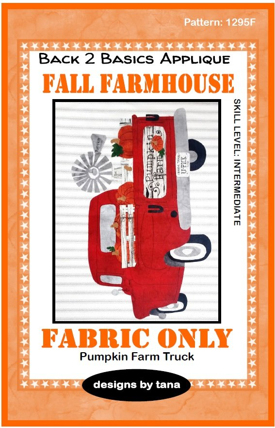 1295KR Fall Farmhouse~Pumpkin Farm Truck Red fabric kit only