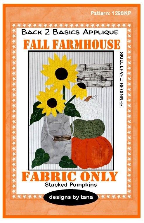 1298KP Fall Farmhouse~Stacked Pumpkins Pumpkin fabric kit