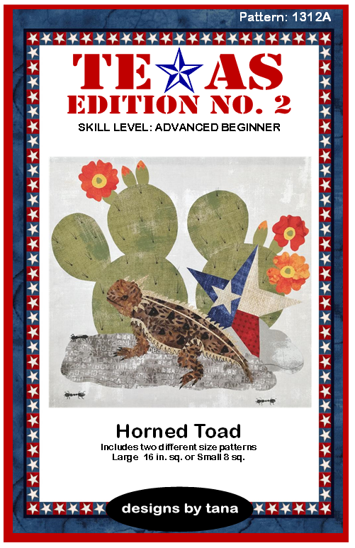 1312A Texas Edition II Texas Map Horned Toad