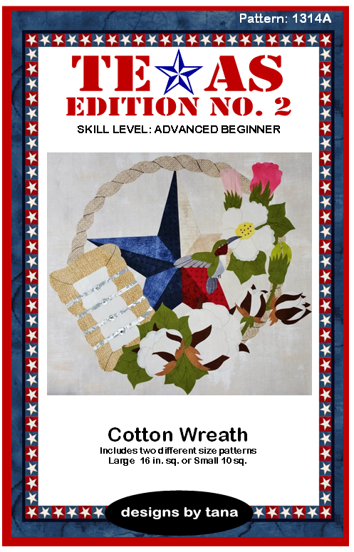 1314A Texas Edition II ~ Cotton Wreath