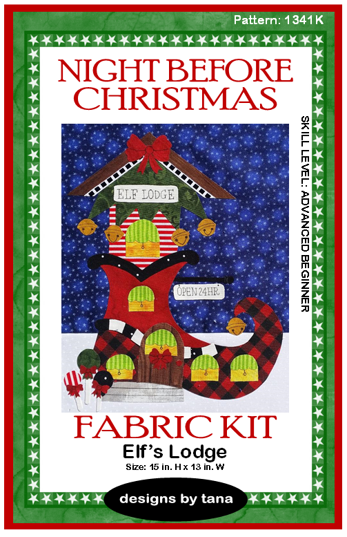 1341K Elf's Lodge Fabric Kit