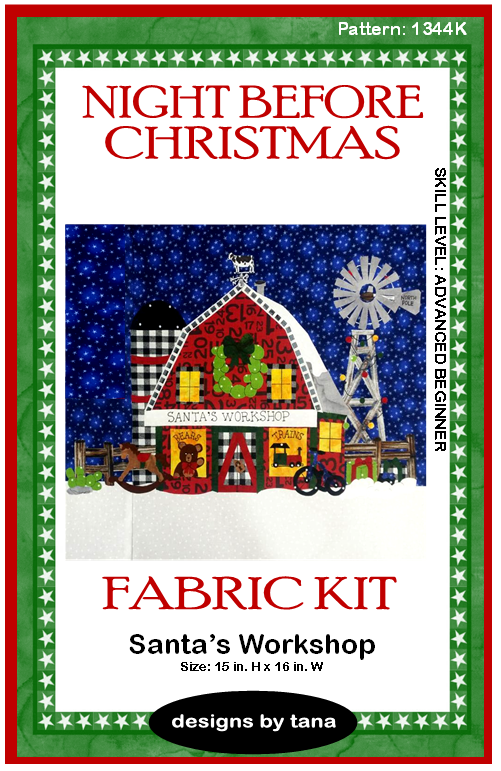 1344K Santa's Workshop Fabric Kit