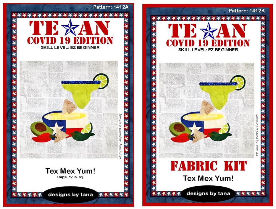 1412AK Texan COVID 19 Edition ~ Tex Mex Yum! Pattern and Fabric Kit